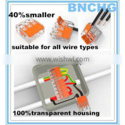 directly factory replace wago 221 3 pin speaker wire connector for All Conductor Types free sample