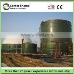 Anaerobic digester for biogas with double membrane roof,sizes can be customized
