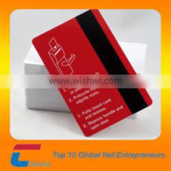 Printed plastic hotel magnetic key card