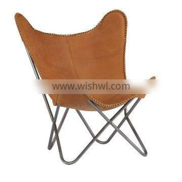 Metal frame butterfly chair