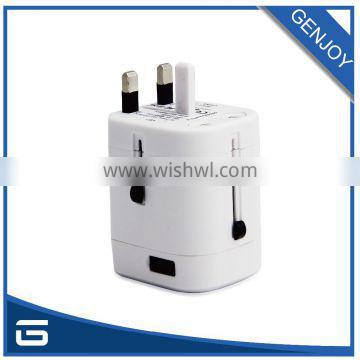 Quality Guaranteed Rubber Surface 5V 2500mA Universal Travel Adapter