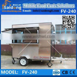 Mobile Fried Ice Cream Cart Ice Cream Sale Kiosk with Optional Ice Cream Machine