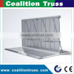 Outdoor aluminum stage crowd barriers/crowd standing barrier Quality Choice