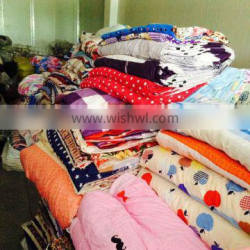 polyester printed bedsheet stocklots fabric