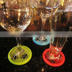 2016 Colorful Rubber Blank Cork Coaster Slip On Silicone Wine Coaster Charms