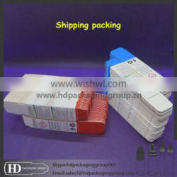 HD custom packaging for eliquid bottle round cylinder paper cardboard box