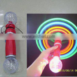 magic flashing spinning windmill wand with double ball