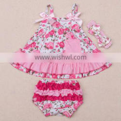 Baby Girl Infant 3pcs Clothing Sets Suit Princess Romper Dress/Jumpersuit baby Party Birthday Costumes