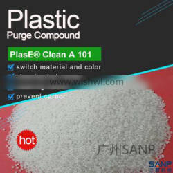 SANP purging compound for PE color change and carbide cleaning