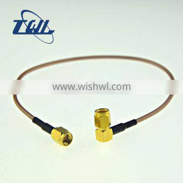 RP-SMA male (Jack) to MCX right angle power rf connector cable assembly
