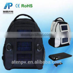 solar rechargeable wholesale hiking solar backpack with Speaker