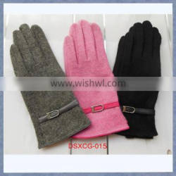 Sell Cheap Women's Cashmere Touch Gloves Pink Grey Black Color Touch Screen Glove
