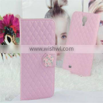 Wholesale leather stand case for samsung i9200 flip leather case