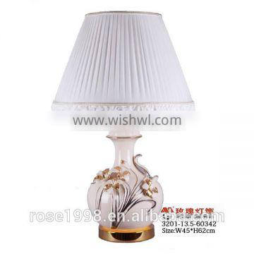 new Chines pottery and modern desk lamps