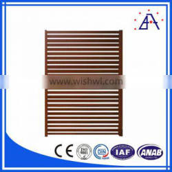 Aluminium Fence Profile With Wooden Color
