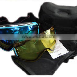 Detachbale Lens Cool Adult Snow Board Skiing Goggles Sun Goggles Sport Double Lens Anti Fog UV Protective