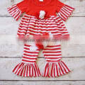 Children clothes boutique baby outfit red stripe christmas outfit holiday boutique outfit