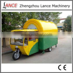 New fashion mobile food car for sale, shawarma food cart with three wheels