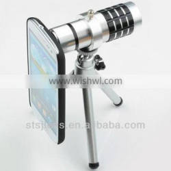 Wholesale price 12X zoom telescope optical lens for sumsung iphone phone lens
