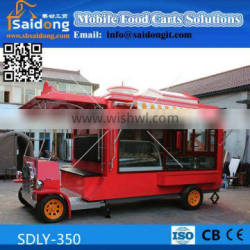 2016 Made in china affordable and practical hotdog food cart for ice cream food cart