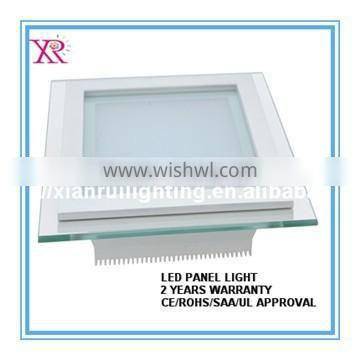 different wattage 6W12W 18W square LED glass panel light