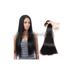 Natural Black Cuticle Aligned Cambodian Virgin Hair Double Wefts