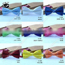 New Design High quality Jacquard Floral Bow Tie For Wedding party dance