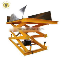 7LSJG Shandong SevenLift 1.0ton customize outdoor hydraulic electric hand stair elevators lift platform for warehouse
