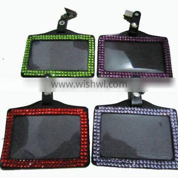 Working card bling Rhinestone badge holder for USA market Supplier