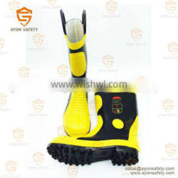 Rubber firefighting flame proof boots-Ayonsafety