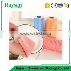 Light weight non woven spunlace cleaning wipe sheet and roll
