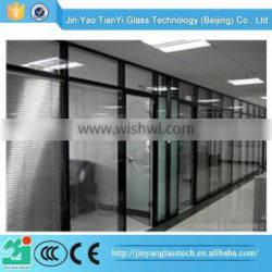 2015 cheap tempered fire rated glass door