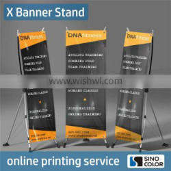 Long Life Printed Type advertising x banner stand