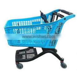 Pure Plastic Hot Sale folding Shopping cart with chair