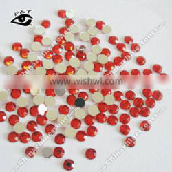 High quality round shape acrylic crystal 10mm Red color 08 for apprel