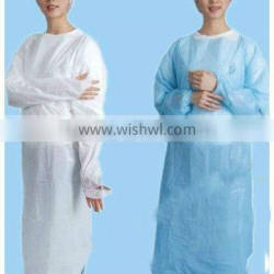 50g Protective CPE isolation gown with elastic cuff/thumb hole