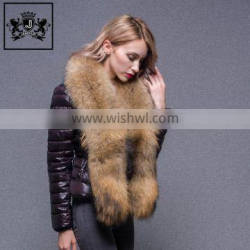 Winter Beautiful Duck Down Style Jacket with Raccoon Fur Hooded For Lady