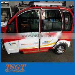 6 people petrol engine tuk tuk with cabin made in China best quality