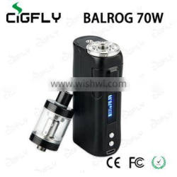 CigFly Stock Offer Multiple Safety Protections UD BALROG 70W TC Kit Wholeasale
