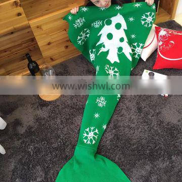 High end Popular christmas gift Mermaid Tail Blanket for mommy and kids