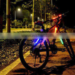 silicone led stick for bike glowing in the night