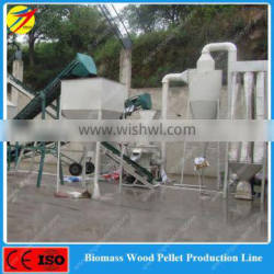 Vertical type ring die wood pellet production line for biomass fuel plant