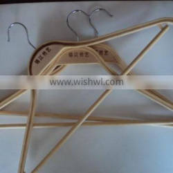Chinese reusable Clothes bamboo hangers gold supplier