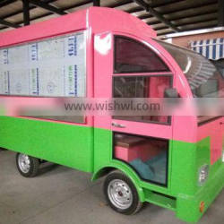 electric moblie food and snack cart and car with high quality made in China