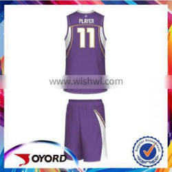 OEM design polyester sublimated manufacturer customized youth basketball sports uniforms