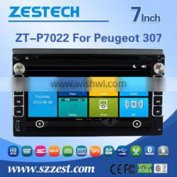 3G Phone GPS DVD BT 2 din car dvd for Peugeot 307 with Win CE 6.0 system 800MHz MCU