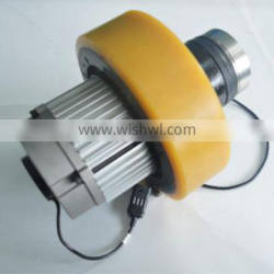 AC/DC motor drive wheel unit for electric pallet truck