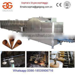 Full-Automatic Industrial Sugar Cone Making Machine|Crispy Sugar Cone Baker Equipment