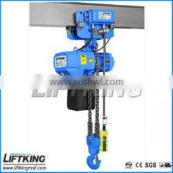 2t single speed electric chain hoist with two chain