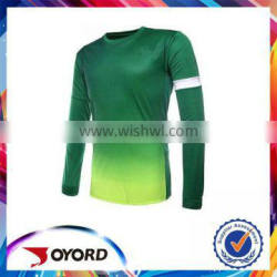 Polyester comfortable mesh soccer jersey long sleeve